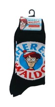 Where's Waldo Socks sz M/L Medium/Large (6-12) Black - $17.99