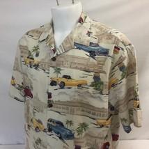 Hilo Hattie Hawaiian Aloha Shirt XL Fabulous 50s Drive In Vintage 100% C... - $34.99