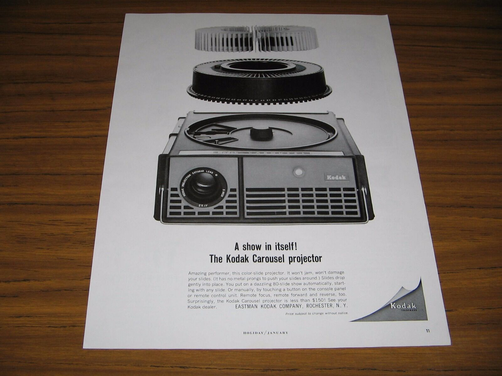 Primary image for 1964 Print Ad Kodak Carousel Projectors Eastman Kodak Rochester,NY