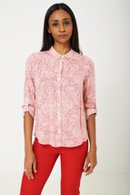 Pink Long Sleeve Paisley Print Shirt Sizes: 8, 10, 12, 14 Brand New - $20.66