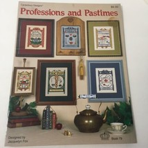 Professions and Pastimes Cross Stitch Pattern Book Canterbury Designs - $9.74