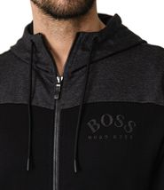 Hugo Boss Men's Premium Zip-Through Hoodie Sweatshirt Jacket With Curved Logo image 4