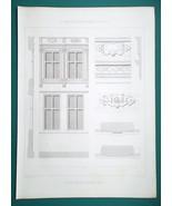ARCHITECTURE PRINT 1864 - ARRAS France Renaissance House Details rue Bal... - $14.40