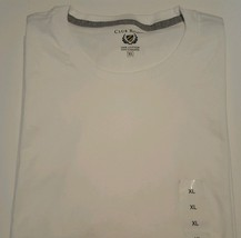 Club Room Mens T-Shirt Crewneck Top Short Sleeve White Solid Size XLarge... - $19.99