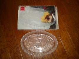 Mikasa Crystal Winter Dreams Serving Platter Tray Heavy Etched Comes wit... - $54.45