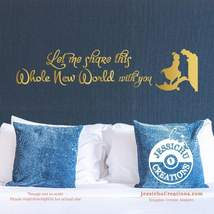 Let me share this whole new world with you - Aladdin Disney Quote Vinyl ... - $7.00+