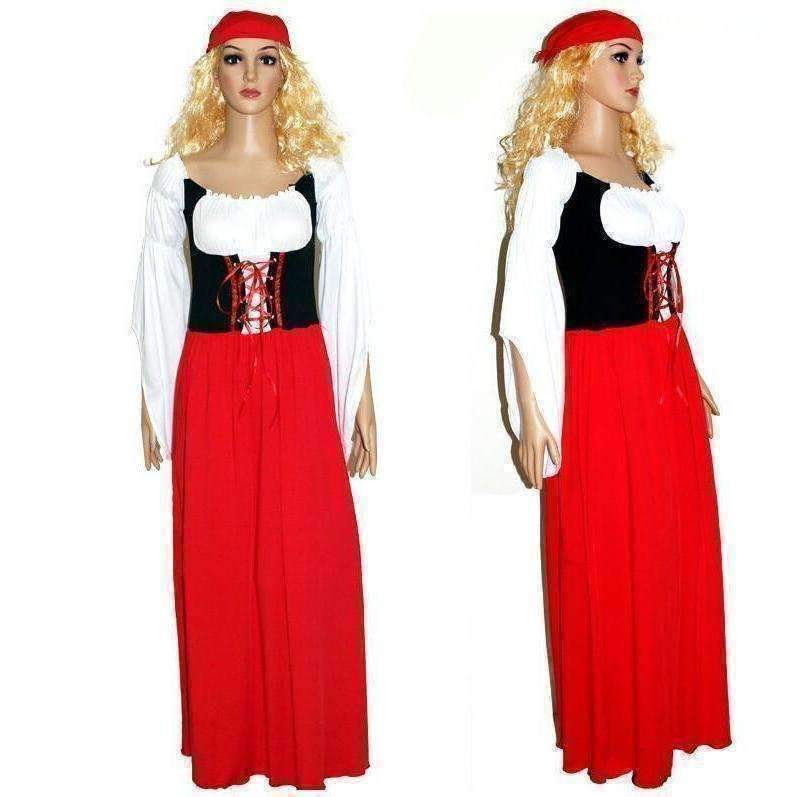 Bavaria Beer Maid Costume Women Fancy Long Dress