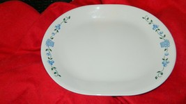 Corelle Blueberry Bouquet 12.25 Inch Oval Serving Platter Free Usa Ship - $23.36