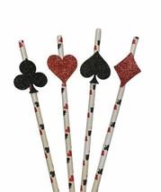 Card Suit Straws, Casino Straws, Card Straws, Las Vegas Party, Casino Pa... - $9.95