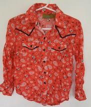 *WRANGLER* SZ. XXS Girls Peach Western Shirt W/Pearl Snaps - $13.00