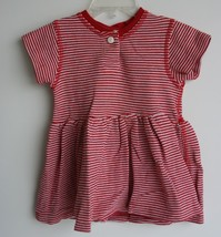 PEACE BLUES USA Red and white striped Dress Thick material 24 month - $4.94