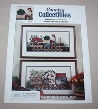 Country Collectibles Cross Stitch Pattern Book 73 Design Connection Roos... - $9.41