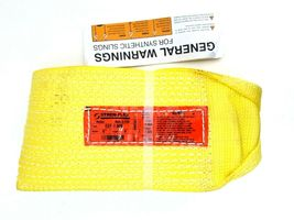 """Stren-Flex Web Sling, Recovery Strap 4' ft x 6"""" in Nylon Yellow Made in USA New image 5"""