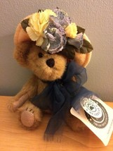 "Boyds Bears Nanette Dubeary Fancy Yellow Floral Hat 8"" Plush Teddy Bear - $10.39"