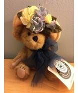 "Boyds Bears NANETTE DUBEARY  Fancy Yellow Floral Hat 8"" Plush Teddy Bear - $10.39"