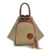 Fashion Backpack Women Canvas Shoulder Bags For Women Diagonal Portable ... - $33.04 CAD