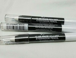 Jordana 12 Hr Made To Last Eyeshadow Pencil 01 Eternal White Lot Of 3 - $9.89
