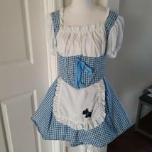 Dorothy Halloween Costume Cosplay Adult Small California Costume Dress w Apron - $18.48