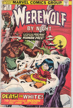 1975 Marvel comic Group Werewolf By Night Death in White #31 - $24.74