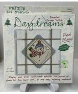 "FROSTY FRIEND Daydreams Counted Cross Stitch Kit Petite In Glass 5"" x 5""... - $12.82"