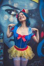 Women's Sexy Miss Rebel Snow White Disney Cosplay Deluxe Costume Set image 5