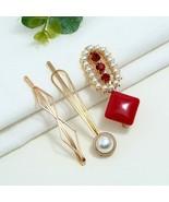 Hairpin Fashion Sweet Romantic Pearl Bangs Imitation Pearl Clip High Qua... - $4.45