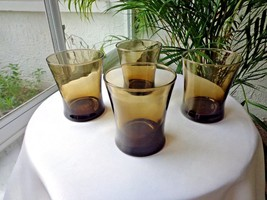 Set of 4 Dark Tawney Brown Double Old Fashioned Glasses - $23.76