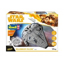 Solo A Star Wars Story Movie: Millennium Falcon 1/164 Revell Model Kit -... - $39.19