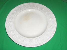 """Vintage Wedgwood Wellesley Cream 13"""" Chop Tray England Embossed Fruit NICE - $84.15"""