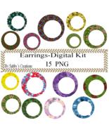 Earring Digital Kit-4th of July-Star-Art Clip-Jewelry-T shirt-Notebook-S... - $1.99