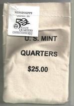 2002-D Uncirculated State Quarter Bag - MISSISSIPPI - $25 MINT SEWN BAG - $41.95