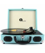 1 BY ONE Turntable 3 Speed Speakers Output Rca,Headphones, MP3 Blue - $397.22
