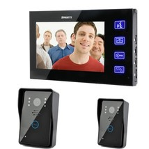 7.0-inch LCD Touch Monitor Wired Video Intercom Door Phone System Doorbe... - $248.01