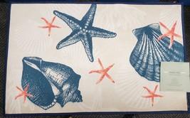 "Printed Accent Kitchen Rug / Mat (20"" X 30"") Sealife, Sea Shells & Sea Stars - $19.79"