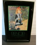 Exhibition Poster Renoir Museum Guggenheim Framed NY 1982 Girl with Wate... - $147.51