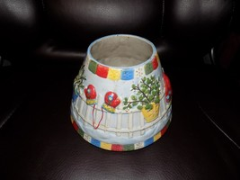 Yankee Candle Winter Snow Play Christmas Mittens Jar Candle Shade Topper Euc - $21.06