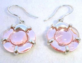 Baccarat B Flower Lt Pink Crystal Earrings in Sterling Silver #2807223 New - $238.90