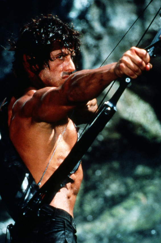 Primary image for Sylvester Stallone Barechested Crossbow Classic Rambo First Blood & 18x24 Poster