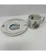 "Wegewood Peter Rabbit Mug & 7"" Plate - $12.86"
