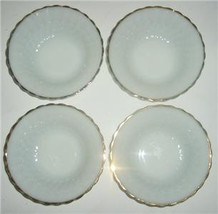 Vintage Anchor Hocking Fire King Milk Glass Bowls With a Swirl Design - $41.00