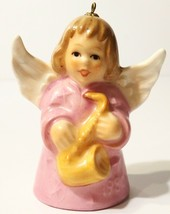 1980 Goebel Angel Bell Ornament Pink - $4.94