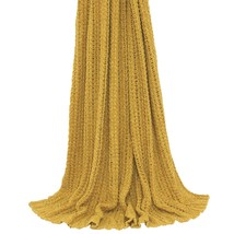 Tinta Unita a Maglia Coste Color Ocra Oro Giallo Lenzuolo Copriletto 140CM x - $65.37