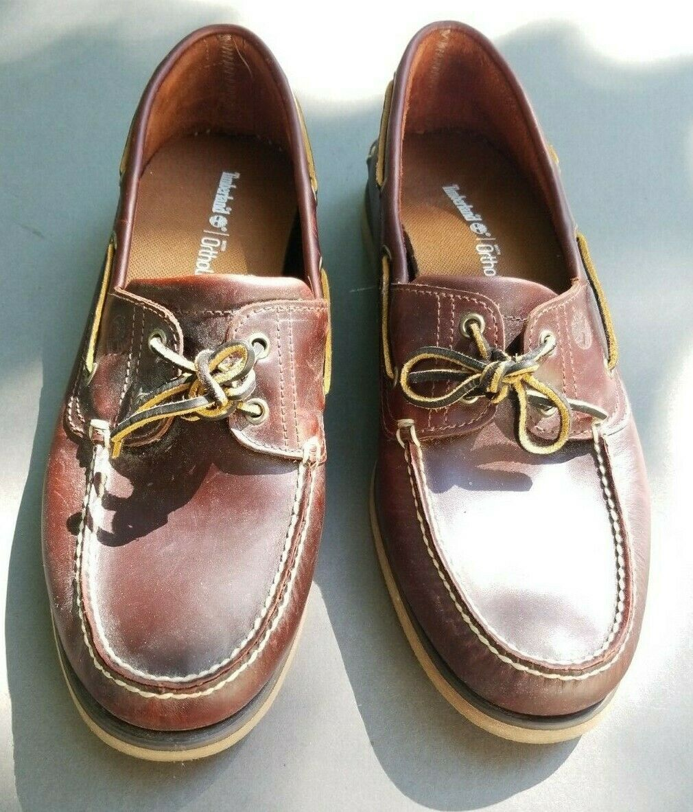 Men/'s Timberland Classic 2-EYE BOAT SHOES TB025077 214 Sizes 8.5-14 Root Beer