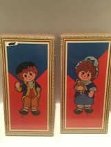 2 Vintage  Raggedy Ann & Andy Pictures by Action Industries; Lyn; NIP - $19.80