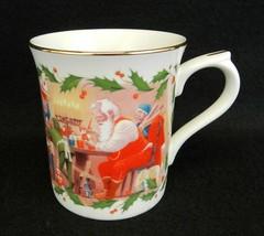 Lenox Christmas Coffee Cup Mug Santa's Holiday Journey Santa's Toyshop G... - $17.81
