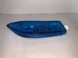 Vintage Aqua Blue Glass Avon Gone Fishing After Shave Cologne Bottle 5 O... - $7.50