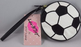 NWT Luv Betsey by Betsey Johnson Glitter Soccer Ball Coin Purse Wristlet... - $14.50