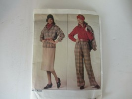Vintage 1985 Vogue uncut pattern 0995 jacket pants blouse skirt Sz 14-16-18 - $9.75