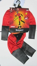 Disney Incredibles DASH Halloween Costume Boys Size Small 4-6 Years NEW Red Suit - £12.71 GBP