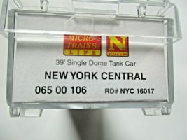 Micro-Trains # 06500106 New York Central 39' Single Tank Car N Scale image 5